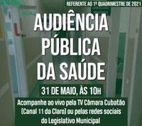 Audiência Pública da Saúde - 31/05 (10 horas)