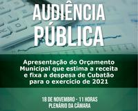 Audiência Pública sobre o Orçamento Municipal 2021