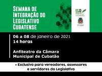 """Câmara promove """"Semana de Integração do Legislativo Cubatense"""""""