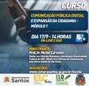 Escola do Legislativo promove curso sobre comunicação pública em parceria com a Câmara de Santos