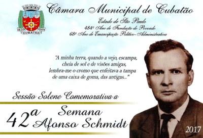 Sessão Solene - 42ª Semana Afonso Schmidt