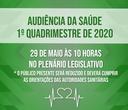 Audiência Pública da Saúde ocorre na próxima sexta (29)