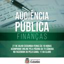 AUDIÊNCIA PÚBLICA DE FINANÇAS DO 1º QUADRIMESTRE DE 2020