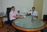 Presidente da Câmara recebe visita de vice-reitor da Unimonte
