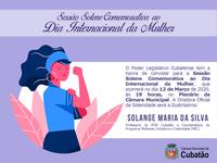 Sessão Solene - Dia Internacional da Mulher