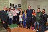 Vereadores recebem a visita de carateca que conquistou medalha de bronze no Sulamericano