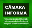 Manifesto Contra Suspensão dos Serviços de Transporte Alternativo